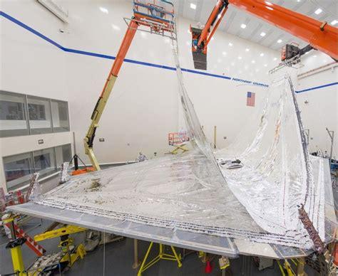 origami telescope webb telescope s origami shield takes shape