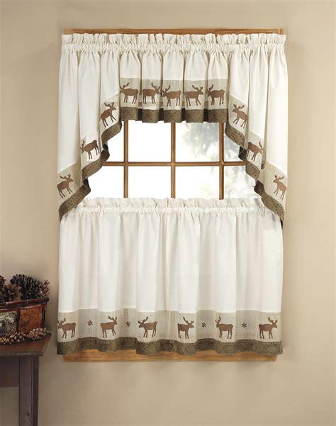 kitchen curtain sets wildlife 5 kitchen curtain tier set curtainworks