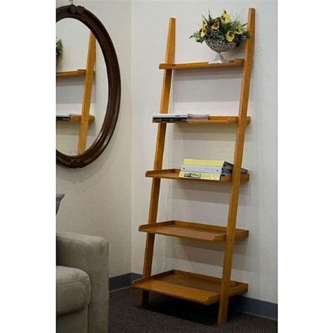 leaning ladder shelves leaning ladder bookcase homesfeed