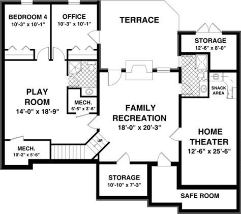 basement floor plans free free house plans with basements smalltowndjs