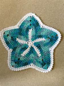 knitted starfish pattern crochet knitted dishcloth patterns hative