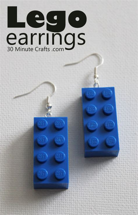 how to make your own steunk jewelry diy lego earrings 30 minute crafts