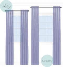 how high to hang curtains how to hang curtains style theories