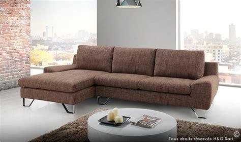 canape d angle moderne tissu finition marron kent mobilier design pas cher