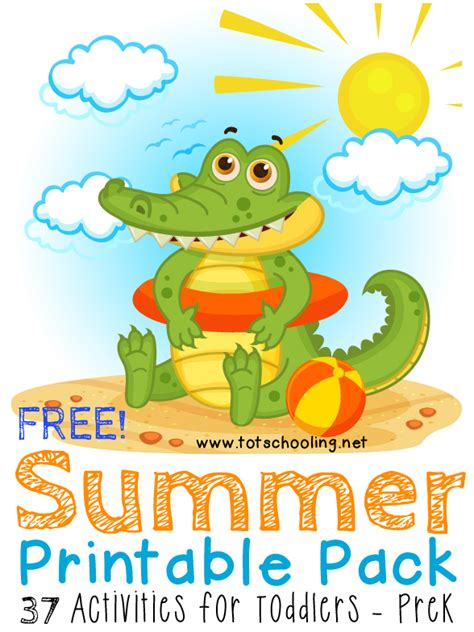 printable summer crafts for free summer printable pack for toddlers prek
