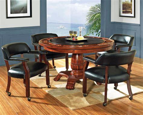 round game table set poker table efurniture mart