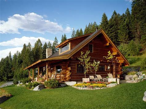 Log Cabin Homes by Montana Log Home Designs Pioneer Log Homes Plans For Log