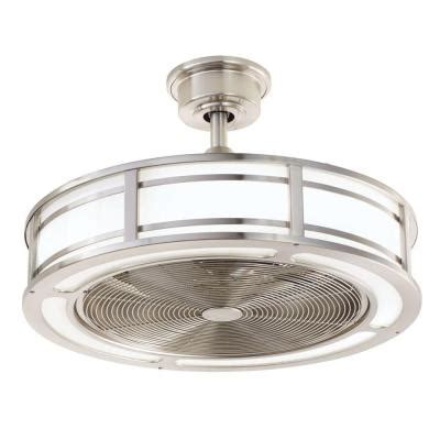 ceiling fan with cage light home decorators collection brette 23 in led indoor