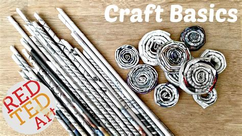 crafts with newspaper for diy newspaper rolls coils craft basics