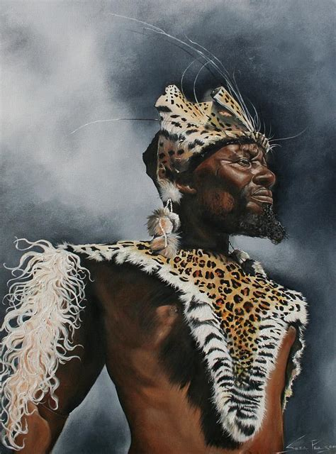 zulu painting zulu warrior painting by stella pelser