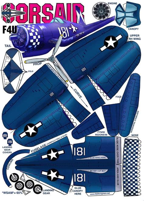 paper craft aeroplane chance vought f4u corsair 해보고싶은 planes