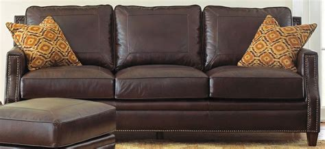 leather sofa pillows caldwell leather sofa with 2 accent pillows from steve