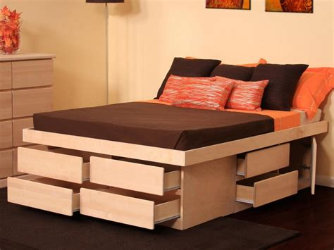 bed platform with drawers platform bed with storage drawers modern