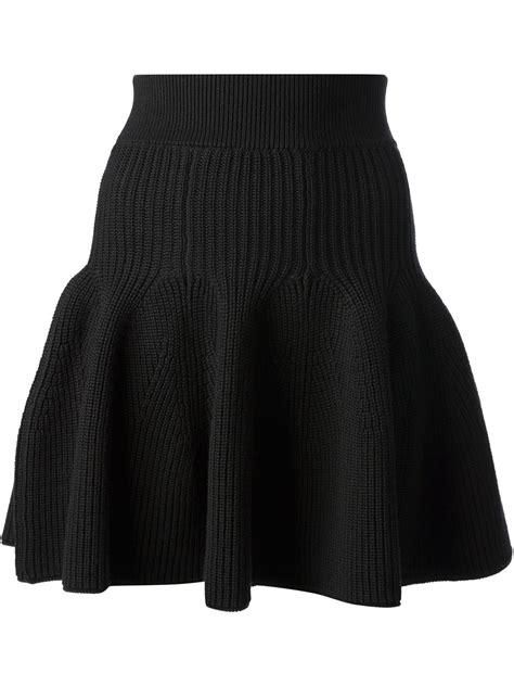 knit ruffle skirt kenzo knitted ruffle hem skirt in black lyst