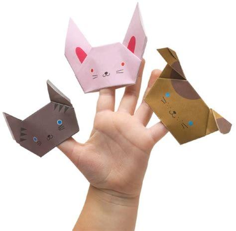 origami puppets diy origami finger puppet kidsomania