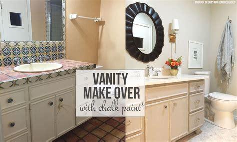 bathroom vanity paint remodelaholic chalk paint 174 bathroom vanity makeover
