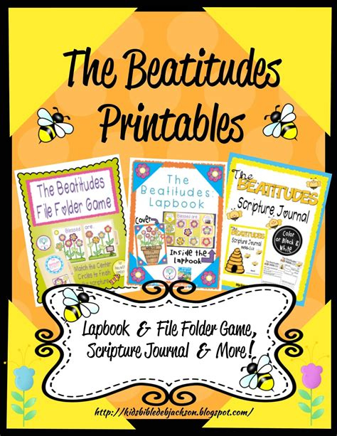 beatitudes crafts for bible for the beatitudes more printables