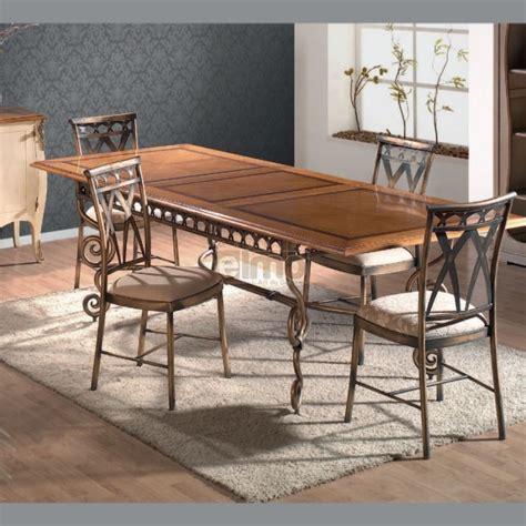 table repas extensible plateau bois pi 233 tement fer forg 233 travaill 233