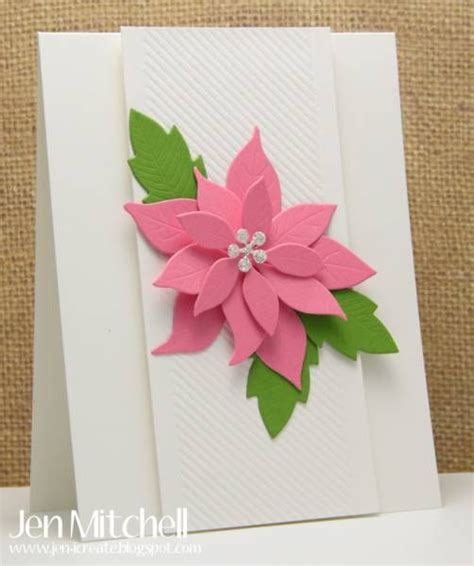 poinsettia paper craft pink poinsettia by jenmitchell cards and paper crafts at