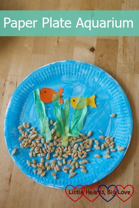 paper plate aquarium craft paper plate aquarium aquariums craft and activities