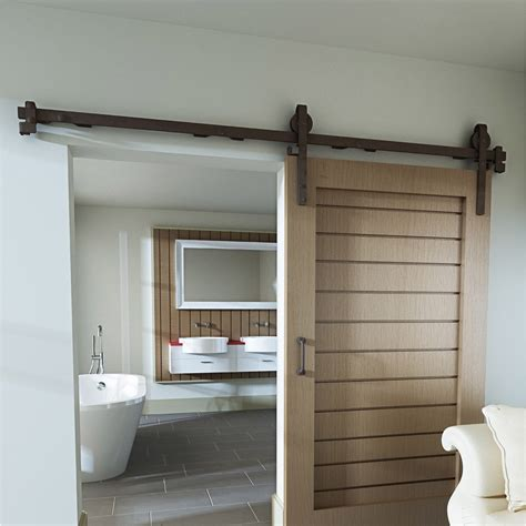 rail coulissant et habillage acier cottage pour porte de largeur 93 cm leroy merlin