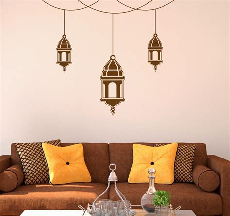 moroccan wall stickers moroccan hanging lanterns wall decals moroccan wall