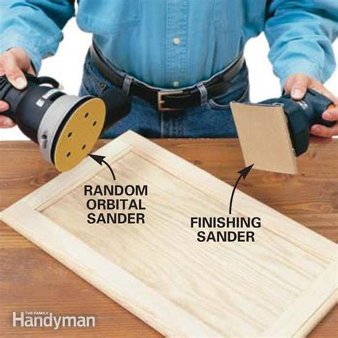 best orbital sander woodworking the best sander for finishing cabinets the family handyman