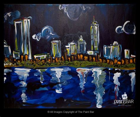 paint nite south of boston painting of boston skyline at paintings