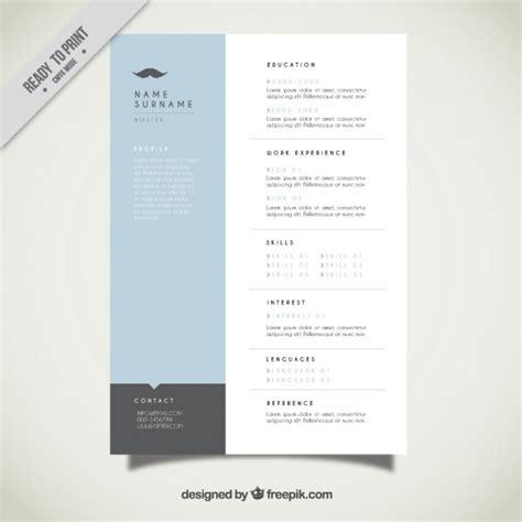 modern resume template vector free