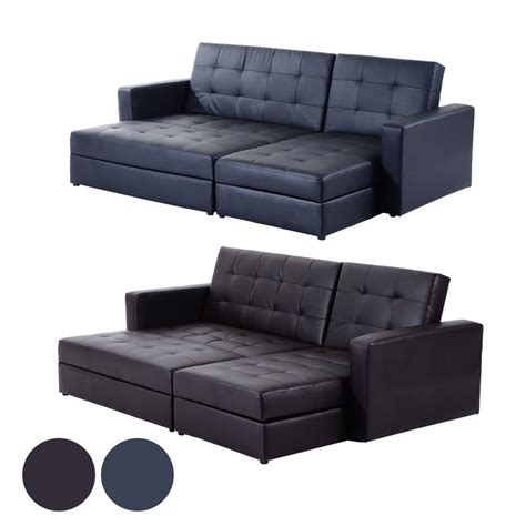 sofa bed and storage deluxe faux leather corner sofa bed storage sofabed