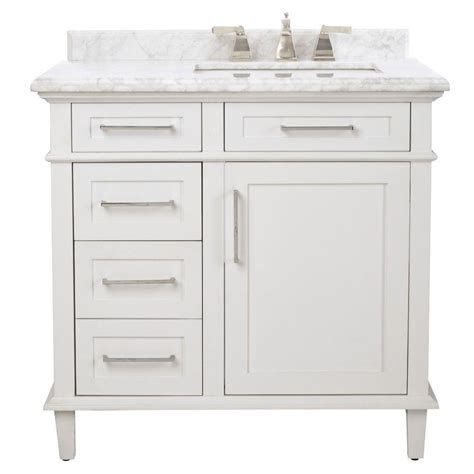 White Bathroom Vanity Home Depot by Home Decorators Collection Sonoma 36 In W X 22 In D Bath