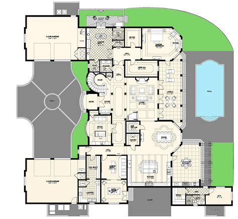 luxery home plans luxury villas floor plans modern house