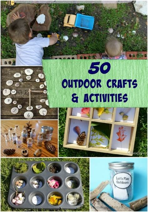 outdoor craft projects outdoor crafts nature activities for best