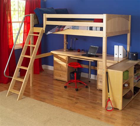 3 high bunk beds knockout high loft bed with desk and 2 drawers in
