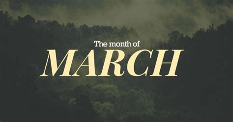 for march march 3rd month of the year