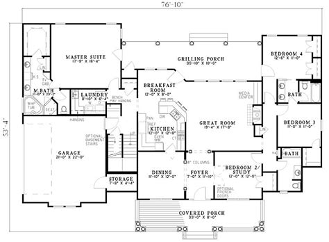 single story house plans 2500 sq ft 2500 sq ft one level 4 bedroom house plans floor