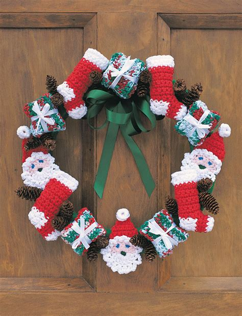 free crafts ideas merry wreath with pattern crafts ideas free
