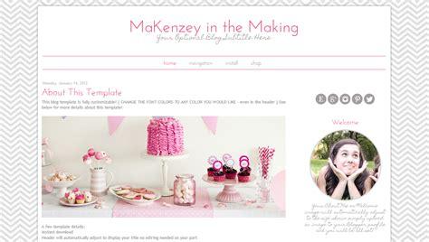 designer blogs modern template pink chevron design