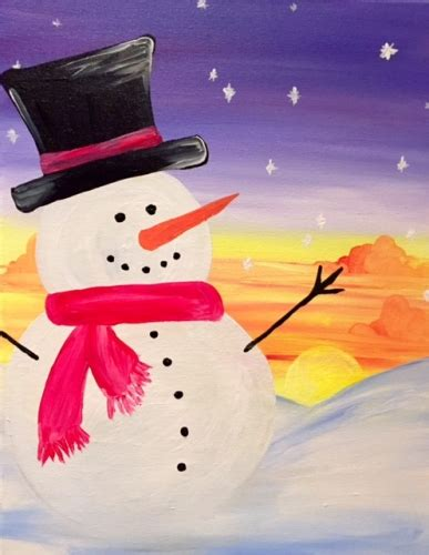 paint nite snowman family paint nite sunset snowman