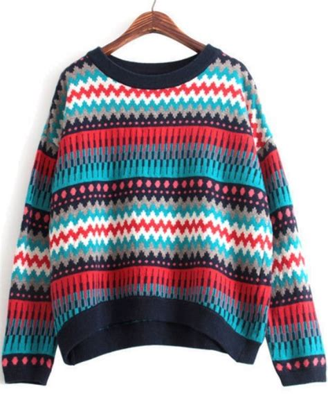 multi color sweater knitting pattern multi color multi pattern knit sweater