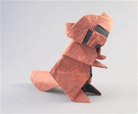 origami baby origami raccoon baby noboru 3d make origami easy