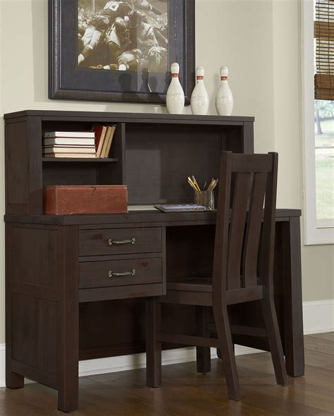 espresso desk with hutch highlands espresso desk with hutch from ne coleman