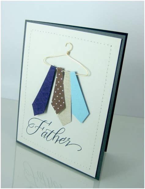 how to make a tie card handmade a simple tie card cardsbay