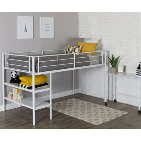 modern bunk bed with desk white metal bunk beds with desk for children