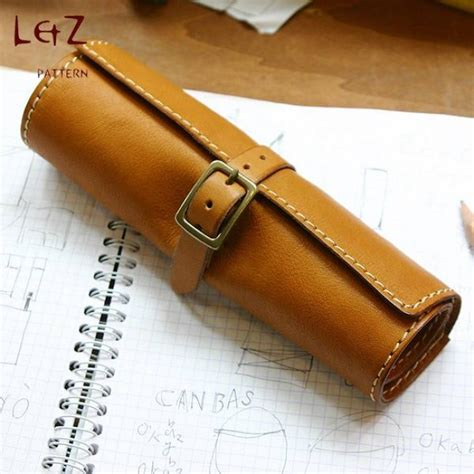 leather craft projects leather bag patterns pen pencil rolling bag