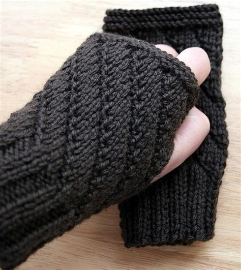 knitting gloves in the knitting pattern fingerless gloves knitting pattern unisex