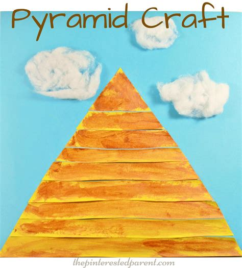 paper pyramid craft pyramid craft the pinterested parent