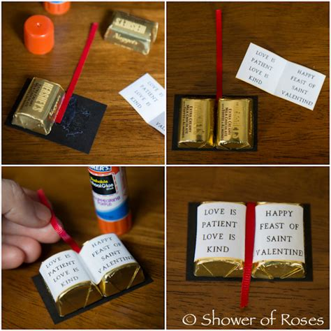 bible crafts for to make shower of roses bible valentines tutorial free