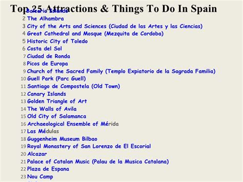 things to do with top 25 attractions things to do in spain