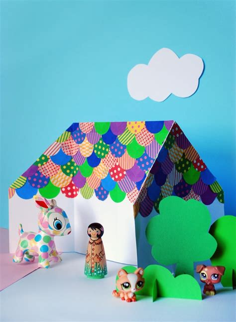 origami dolls tutorial make an easy origami doll house we are scout
